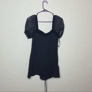 NWT Express Black Blouse Womens Small
